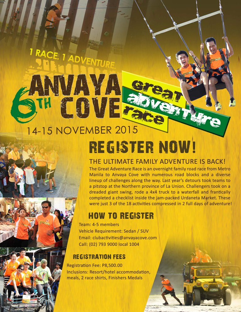 6th Great Adventure Race November 2015