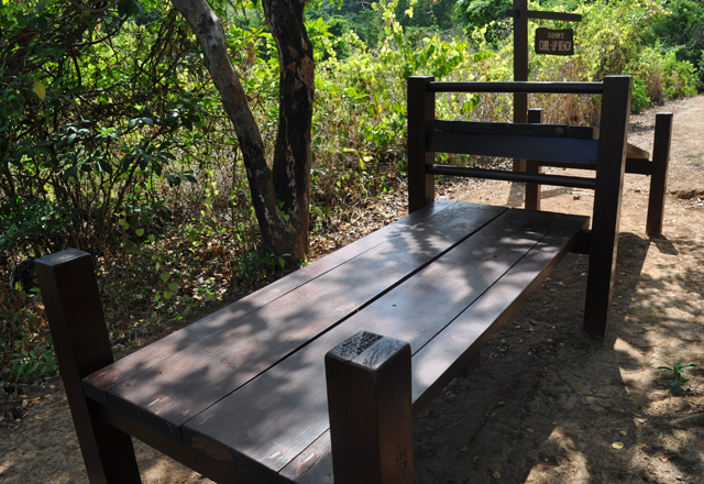 Fitness Trail – Station 5: Curl-Up Bench
